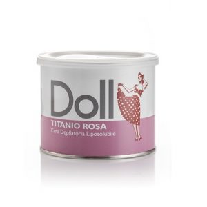 Cera depilatoria liposolubile titanio rosa DOLL vaso da 400ml