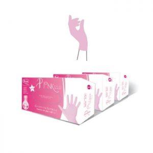 Guanti in nitrile rosa